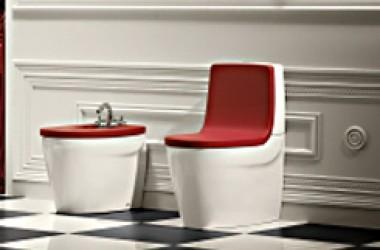 Kolorowe sedesy, blaty, deski…