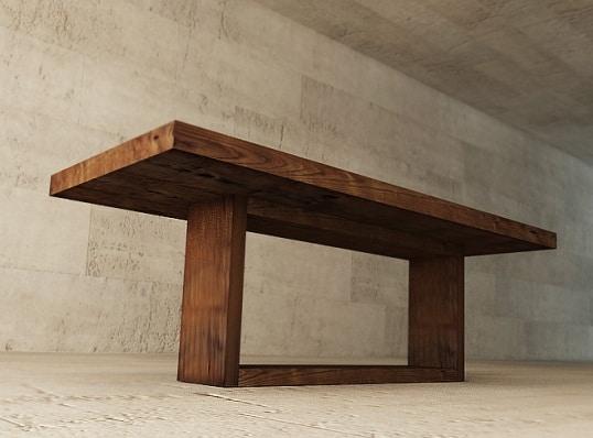 stół w fornirze dębowym barwionym, wym. 180x90 cm, cena 5800-6200 zł