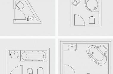 Ustawienie sprzętów w małej łazience