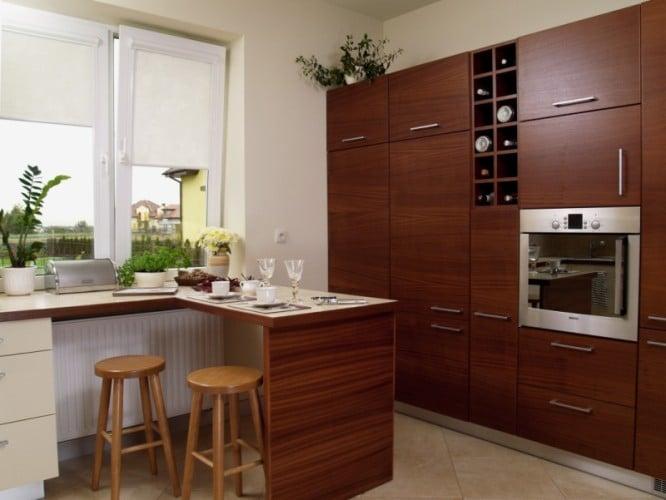 Kuchnia z barkiem  Meble kuchenne -> Kuchnia W Bloku Kolory Ścian