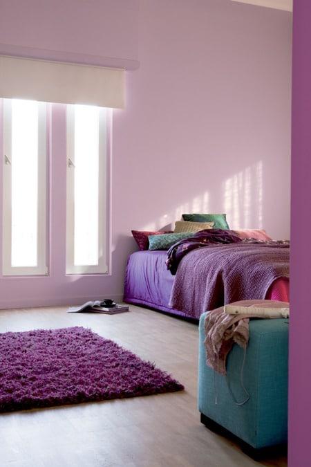 Pokój pomalowany farbą Dulux Intesive oraz Światło i Przestrzeń