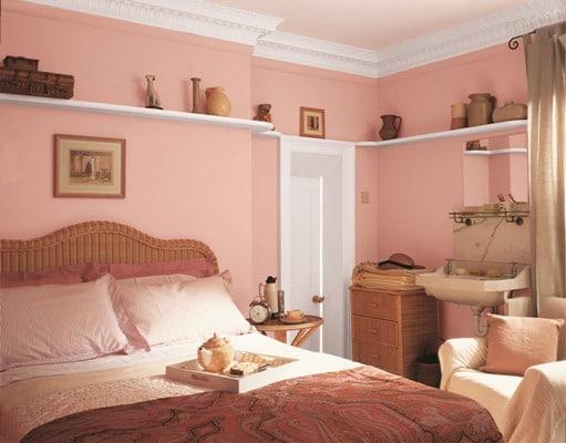 Sypialnia w kolorach Sweet Memory, farby Dulux