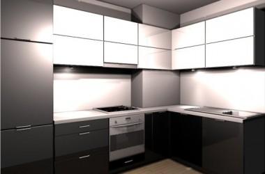 Jaki kolor ścian w czarno-białej kuchni?