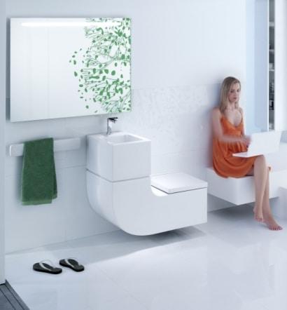 Compact bathroom sinks