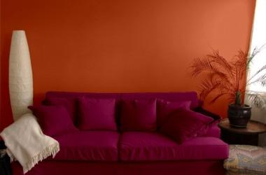 Kolory do pomarańczowych ścian