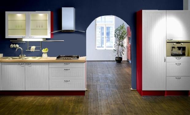 Kolory ścian do białych mebli kuchennych  Kuchnia -> Castorama Kuchnia City Biala