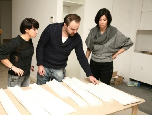 Grażyna Wolszczak z projektantami