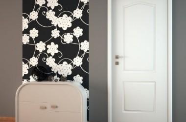 Jakie drzwi do szarej podłogi?
