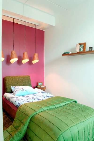 Sypialnia pomalowana farbą Tukkurila
