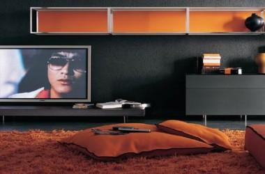 Pomarańczowy w pokoju