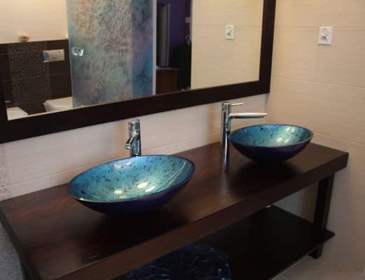 Szklana umywalka Villa Glass Studio