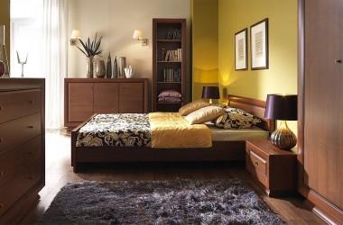 Kolory do pokoju – podłoga buk, meble mahoń