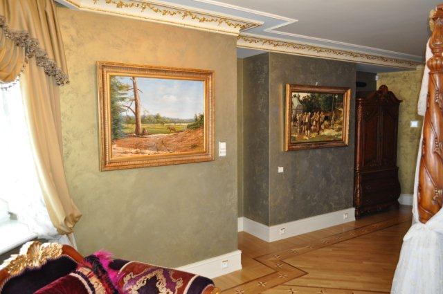 Efekt Ottocento na ścianie - wykonanie Top Kolor