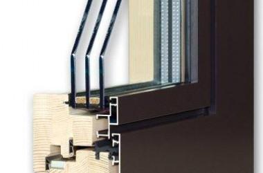 Bardzo odporne okna drewniane z aluminiowymi nakładkami