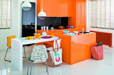 Pomarańczowy – kolor do kuchni