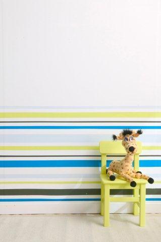 Malowanie pasów na ścianie - efekt