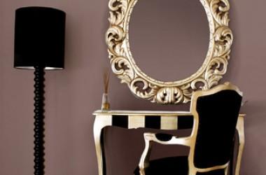 Pokój w stylu glamour