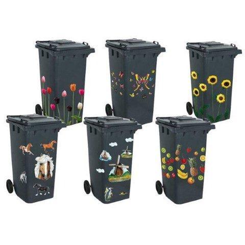 Naklejki na pojemniki ze śmieciami - do kupienia Jula