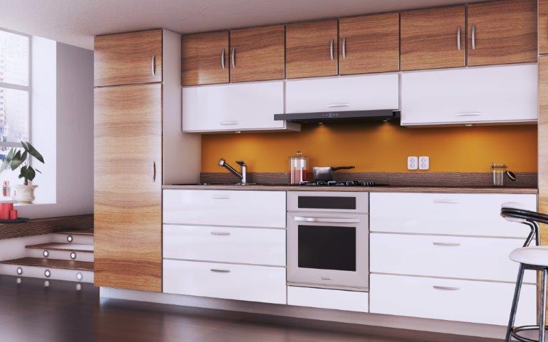 Jak urządzić małą kuchnię  Kuchnia -> Okap Nad Kuchnia