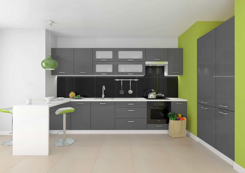 Nowoczesne meble kuchenne; opinie projektanta  Kuchnia -> Castorama Kuchnia City Biala