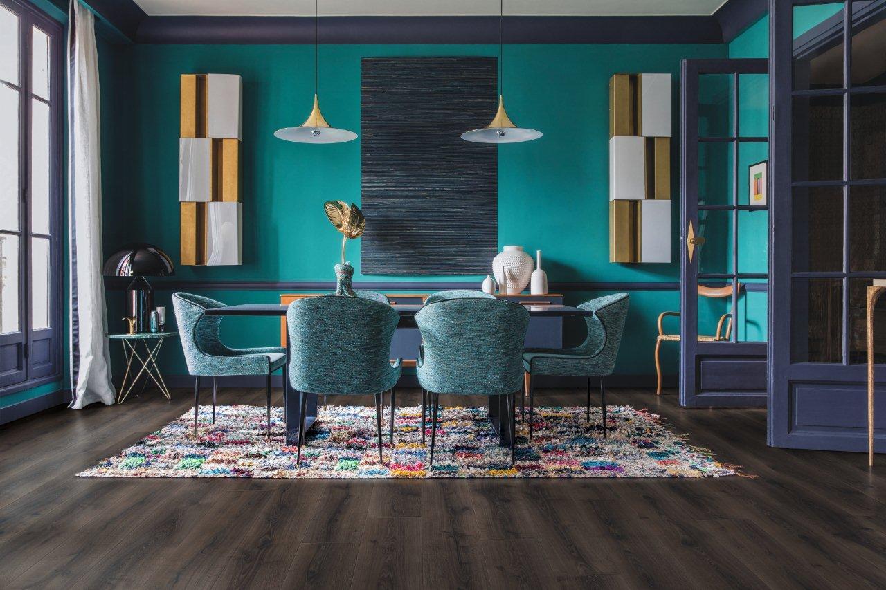 Salon w stylu Royal Chic Quick-step - kolekcja podłóg laminowanych Majestic