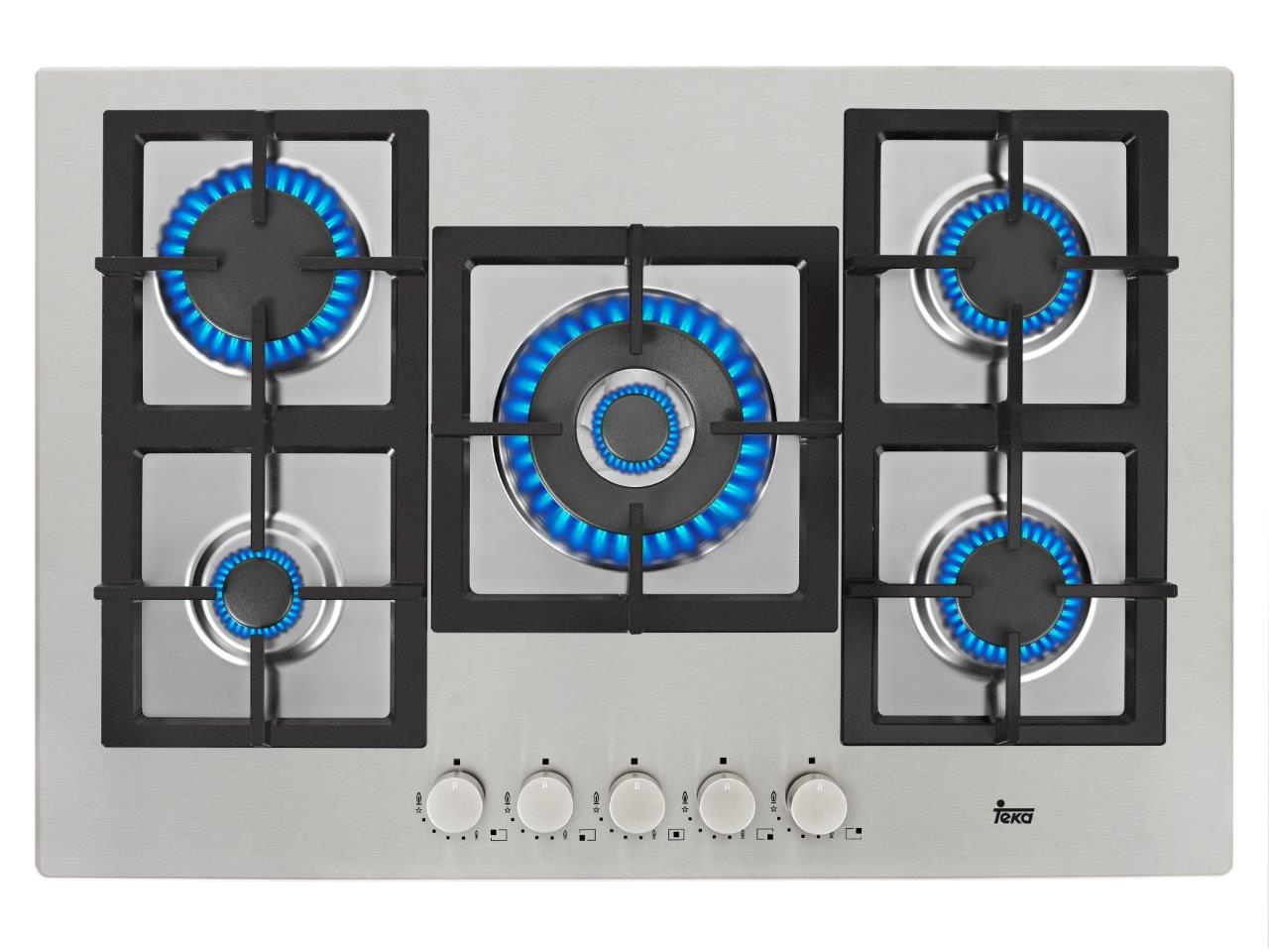 Płyta stalowa z pięcioma palnikami - Teka EFX 90 5G AI AL DR, cena 1199 zł