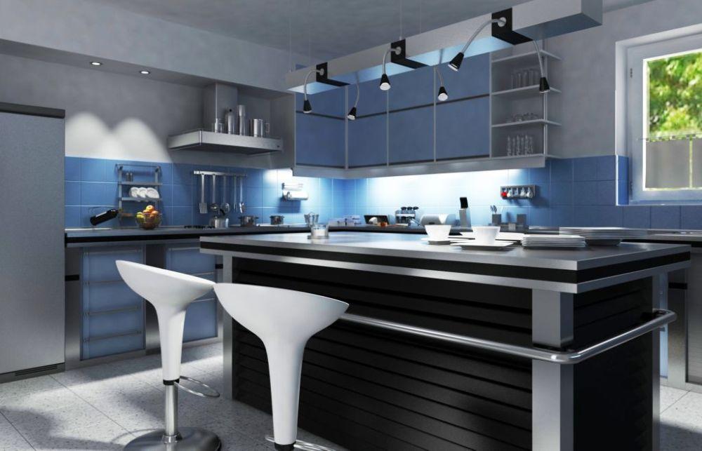 Kuchnia z oświetleniem blatu; fot. shutterstock