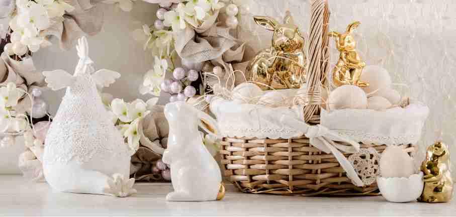 home&you Wielkanoc Biel i złote akcenty