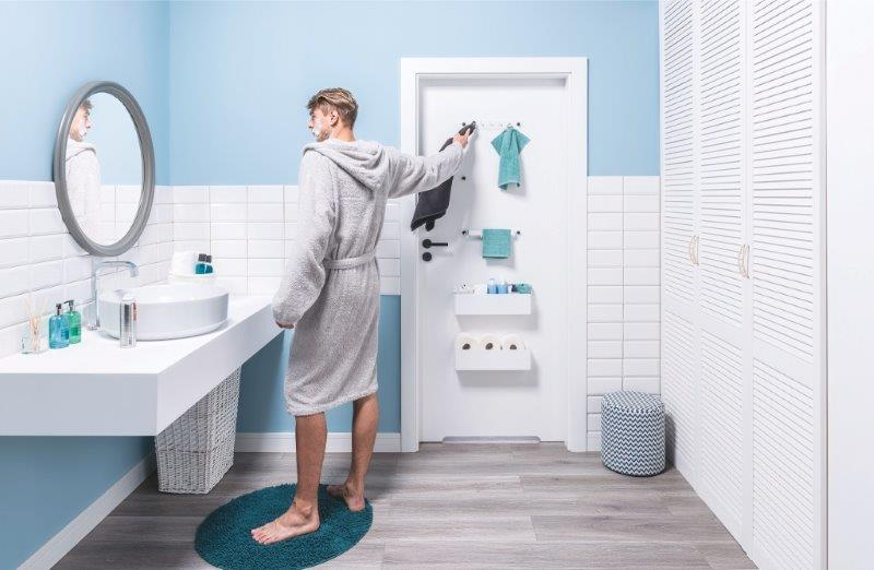 Drzwi SMART - dodatkowe miejsce w łazience