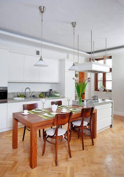 Białe meble kuchenne  Meble kuchenne -> Kuchnia Biala Szafki Do Sufitu
