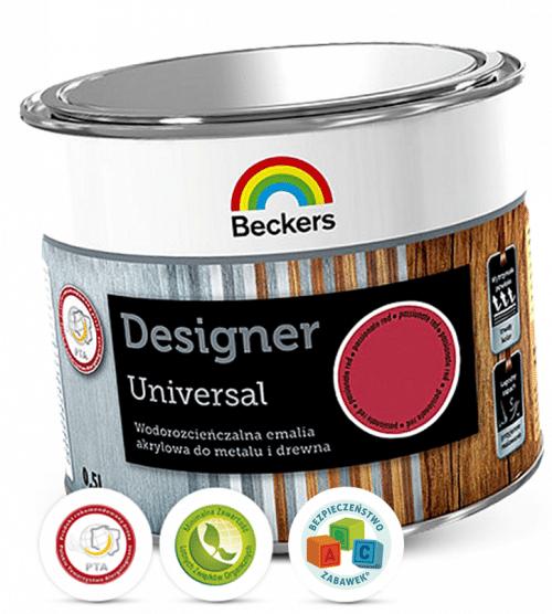 Farba z atestami do malowania w pokojach dziecięcych - Beckers Designer Universal