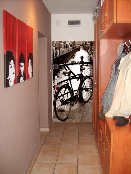 arto of wall, drzwi i fototapeta, wzór rower