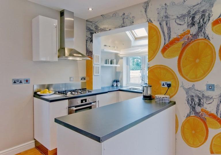 Art of Wall ściana w kuchni, fototapeta samoprzylepna, w pomarańcze