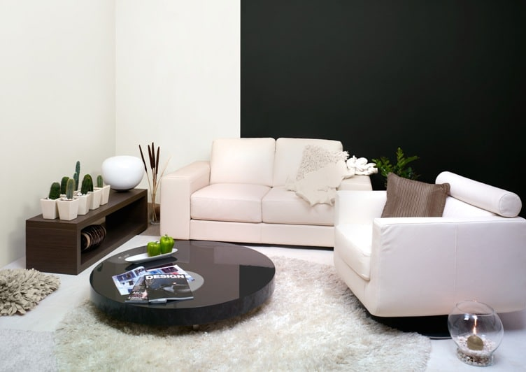 zestawienie czerni i bieli, farby Dekoral