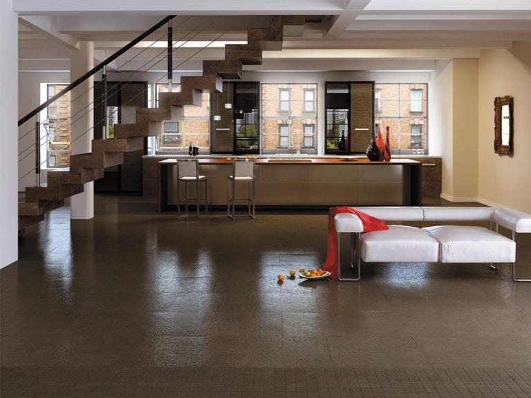 Nowa Gala Magma - podłoga w salonie