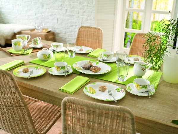 Villeroy & Boch, zastawa New Cottage zdobiona - Green Garland