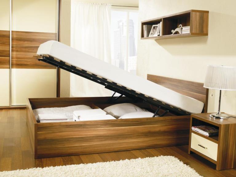 Meble Wajnert, kolekcja Bianca, łóżko z pojemnikiem