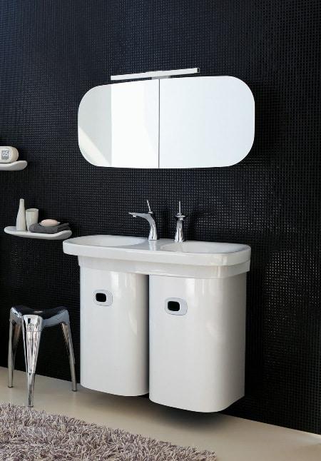 Laufen, łazienka MIMO, podwójna umywalka
