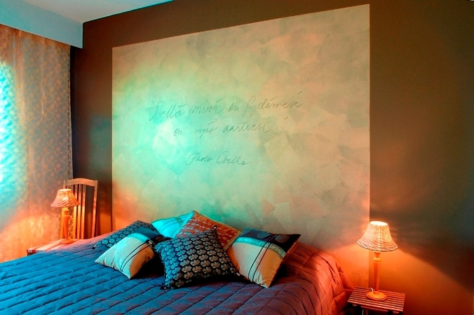 Tikkurila, sypialnia w męskim stylu