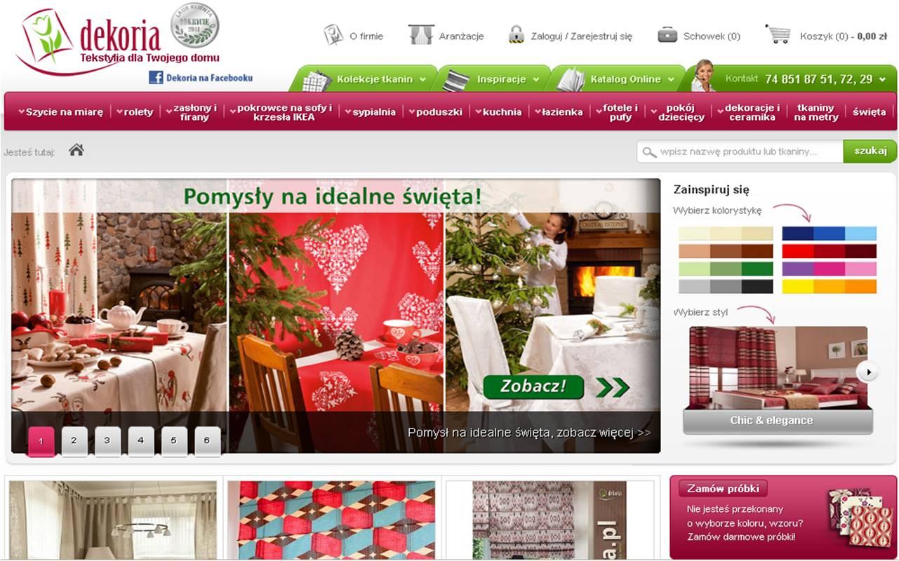 Dekoria.pl sklep internetowy