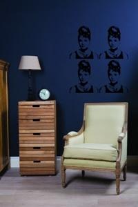 Beckers, Audrey Hepburn, szablon na ścianie