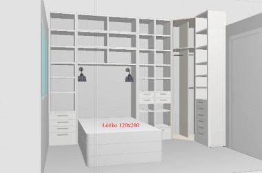 Jak zabudować małą sypialnię, by zmieścić też garderobę