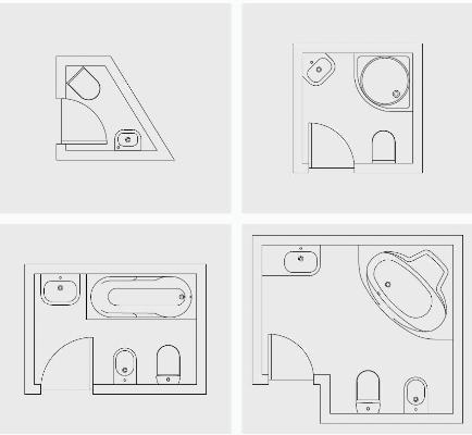 projekty do małej łazienki, Roca