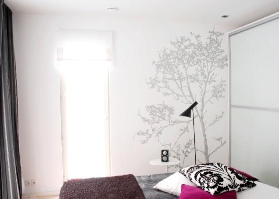 Sypialnia malowana farba Tikkurila Optiva