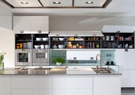 Mebel Rust, kuchnia Torino, górna zabudowa szafkami otwieranymi do góry