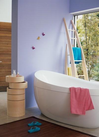 Pokój kapielowy pomalowany farbą Dulux