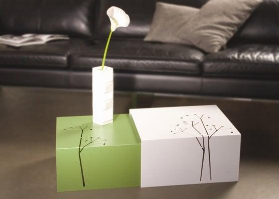 Fabryka Form, stoliki Makrame Flower , cena 1090 zł/2 sztuki