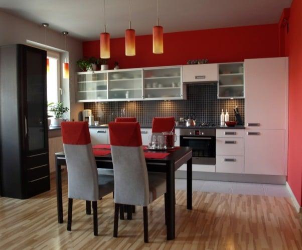 Kolory ścian do białych mebli kuchennych  Kuchnia -> Szara Kuchnia Jaki Kolor Ścian