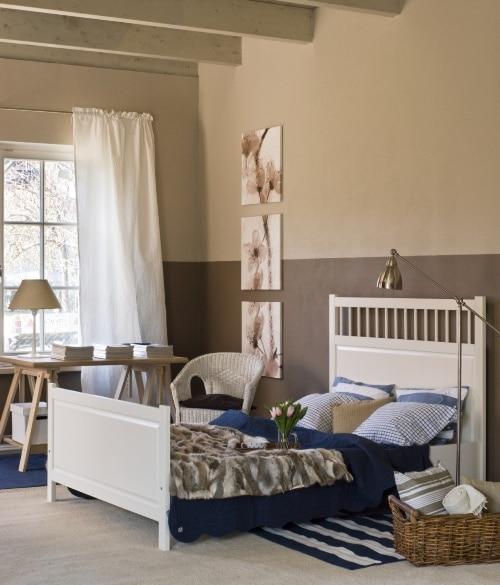 Sypialnia pomalowana farbami Tukkurila Optiva 5