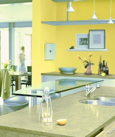 Kuchnia malowana farbą Dulux Kitchen & Bath